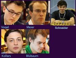 Favoriten 1. Deutsche Schach Internetmeisterschaften 2020
